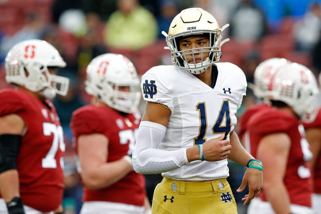 Notre Dame safety Kyle Hamilton is one of the Fighting Irish's most important players — defensively. But there has been some speculation this summer that the 6-4, 221-pound All-American might be effective on offense too, lining up at wide receiver.