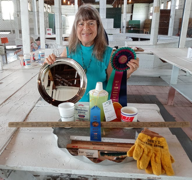 Beverly Gray took home Best of Show Trophy in Collections with a collection of items from former Mercer County Businesses. photo submitted