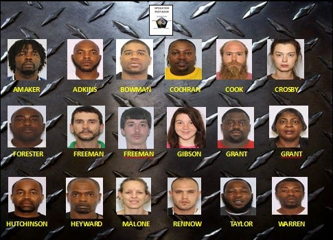 Operation Pentagon has resulted in at least 18 arrests to date in Hampton County.