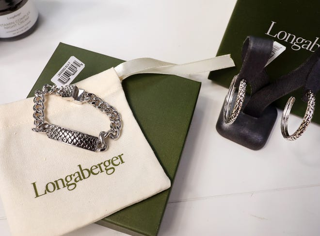 Rachel Longaberger pitched a new line of jewelry in a livestreamed event from Franklin Park Conservatory Friday night.