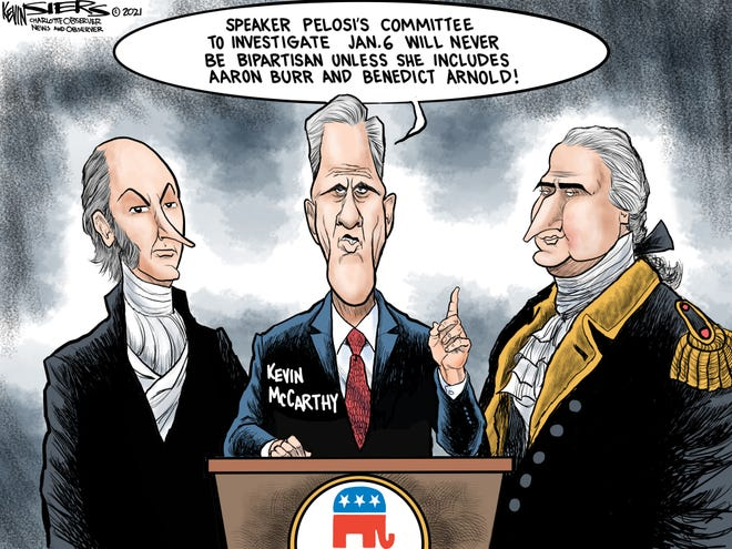 Jan. 6 Committee Dismembers by Kevin Siers, The Charlotte Observer, NC