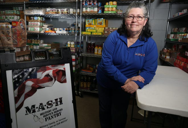 Penny Kilcourse Comer is the pantry coordinator for the Grove City MASH (Military and Service Heroes) Pantry and Resource Center, 2996 Columbus St.