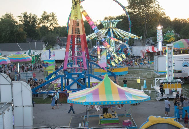 The midway at the Lenawee County Fair is pictured in 2017. This year's fair is July 25-31.