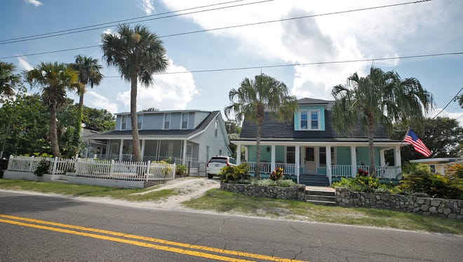 Homes in the proposed mainland local historic district in New Smyrna Beach, Thursday, July 22, 2021.