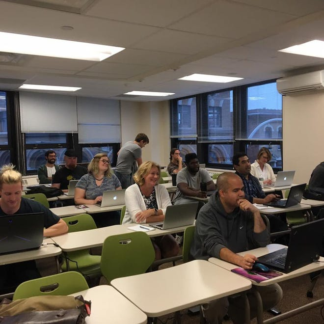 CanCode Communities is bringing its technology training program to Herkimer. Shown here is a coding class conducted in the Albany area.