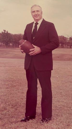 Lyndol Irby as a coach at Southmayd High School