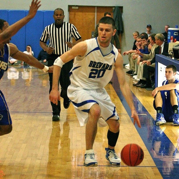 This is a photo of Brian Davison during his playing days at Brevard College.