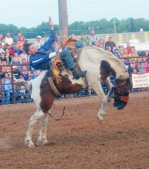 The evening entertainment at the Harvey County Free Fair will come out of the gates with a fair tradition July 30 — the annual Newton Saddle Club Rodeo will be in the Newton Saddle Club Area.