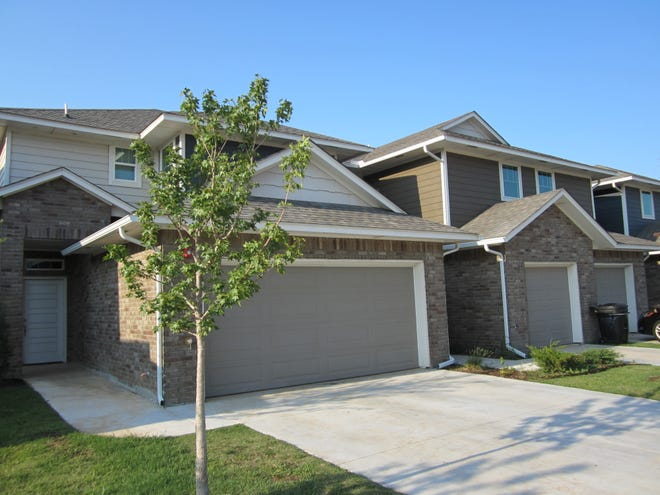 A glimpse of River Run Townhomes, 727-771 SW 14 in Moore, which recently changed hands from one California investor to another in a deal handled by Commercial Realty Resources Co. in Norman.