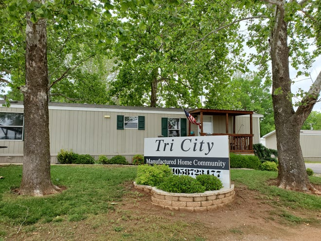 A view of Tri City Mobile Home Park, 200 Naomi Lane in Newcastle, recently purchased by a West Coast investor, Red River MHP LLC, in a transaction by Keith Wilson Co.