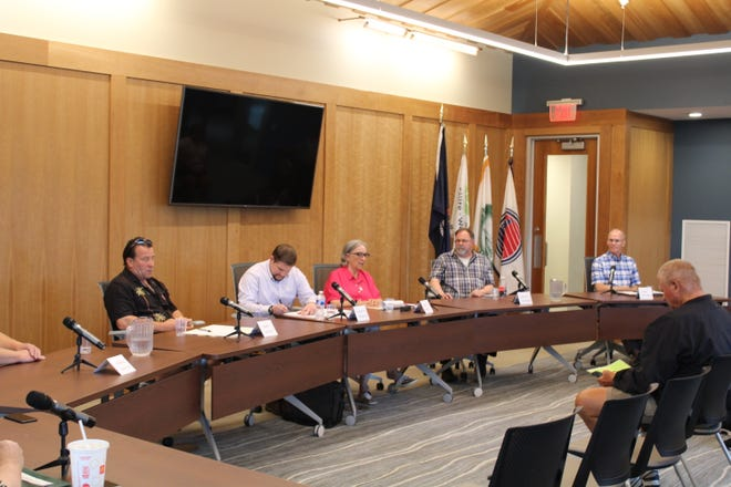 Boyne City Candidates discuss local issues at a public forum on July 22.