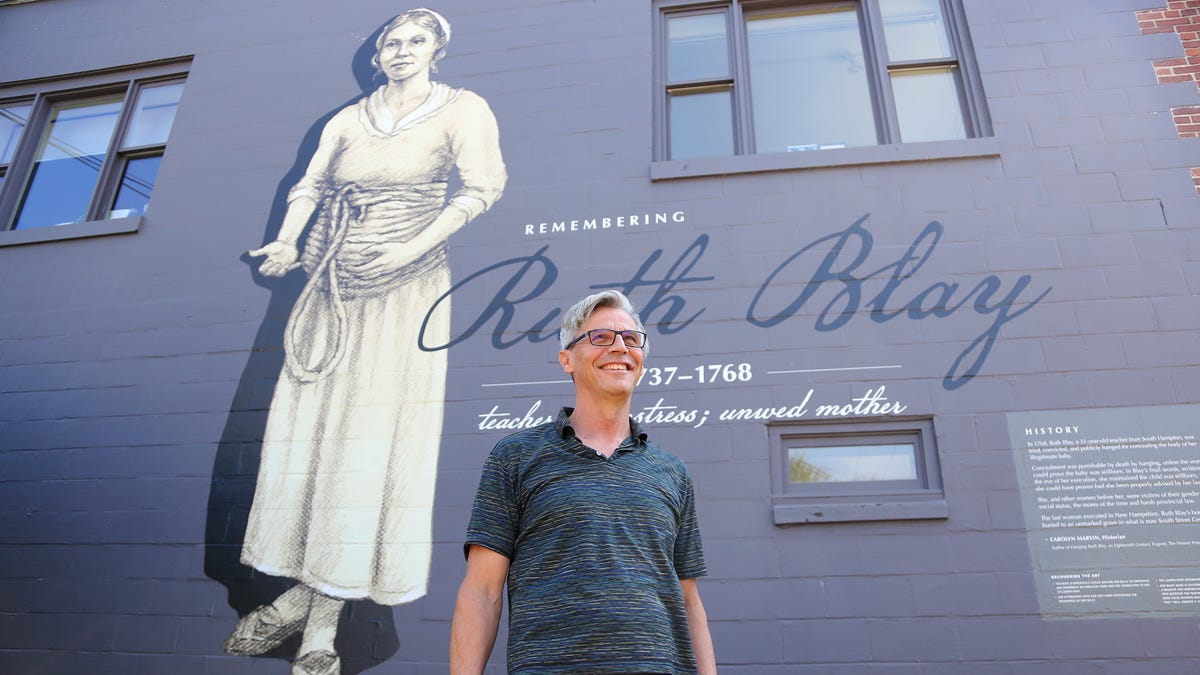 The last woman hanged in NH: Portsmouth mural honors Ruth Blay — 17 more murals planned