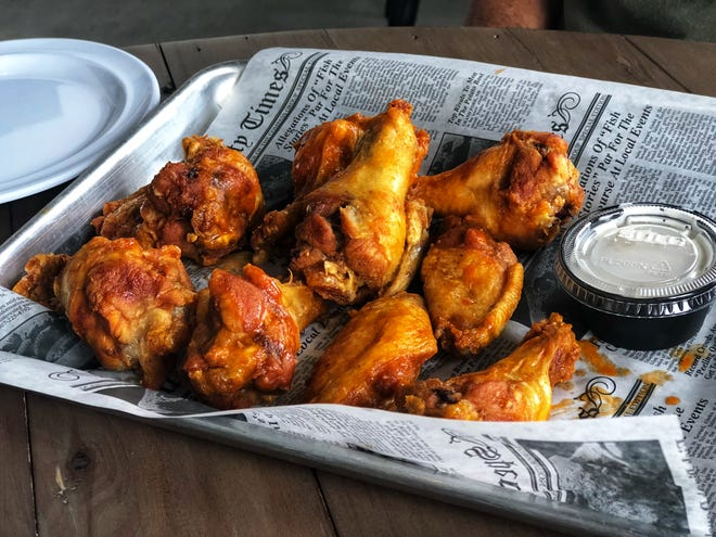 Buffalo-style chicken wings at the new Stormhouse Brewing pub in North Palm Beach.
