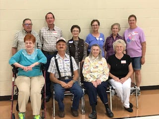 The annual Hathaway reunion, families of the 12 children of the late John William and Reno Hathaway, was held June 26 at the I.O.O.F. Lodge in St. John.