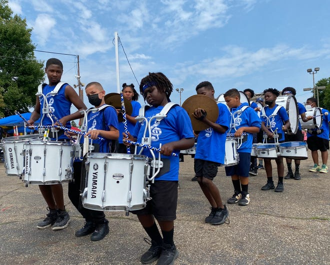 The EN-RICH-MENT Drumline performs Friday at the African American Arts Festival on Cleveland Avenue NW at 10th Street in downtown Canton. The festival continues on Saturday from 10 a.m. to 10 p.m. and features art, music, poetry, food and children's activities.
