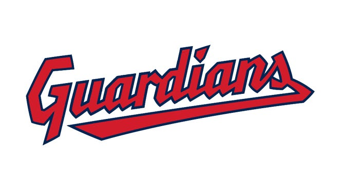The new logo for the Cleveland Guardians