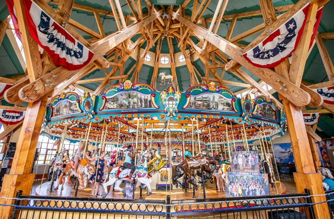 The Silver Beach Carousel reopens following health and concerns due to the COVID-19 pandemic on Friday, July 23, 2021, in Saint Joseph.