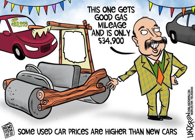Don Landgren cartoon: Used car prices