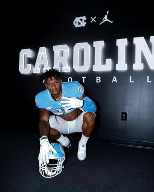 Four-star 2022 running back Omarion Hampton, who officially visited UNC football last month, verbally committed to the Tar Heels on July 22. The rising senior at Cleveland High School ranks as the top player in UNC's 11-man 2022 class.