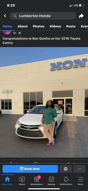 This screenshot was taken from Lumberton Honda's Facebook post before it was deleted.