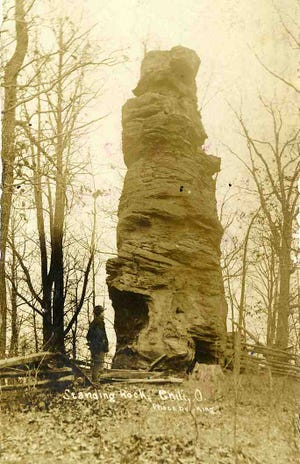 The Standing Rock at Pearl is one of three rock formations in eastern Coshocton County.