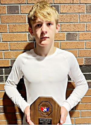Sloan Johannsen of Watertown earned All-American honors by going 9-1 and winning the bronze medal in the Greco/Cadet 106-pound division in the U.S. Marine Corps Junior and 16U Nationals July 16-23 at Fargo, N.D. Johannsen, who competed for Team South Dakota in the event, will be a sophomore for Watertown High School's wrestling team this year. As a freshman last winter, he compiled a 34-1 record and captured the state Class A 106-pound championship.