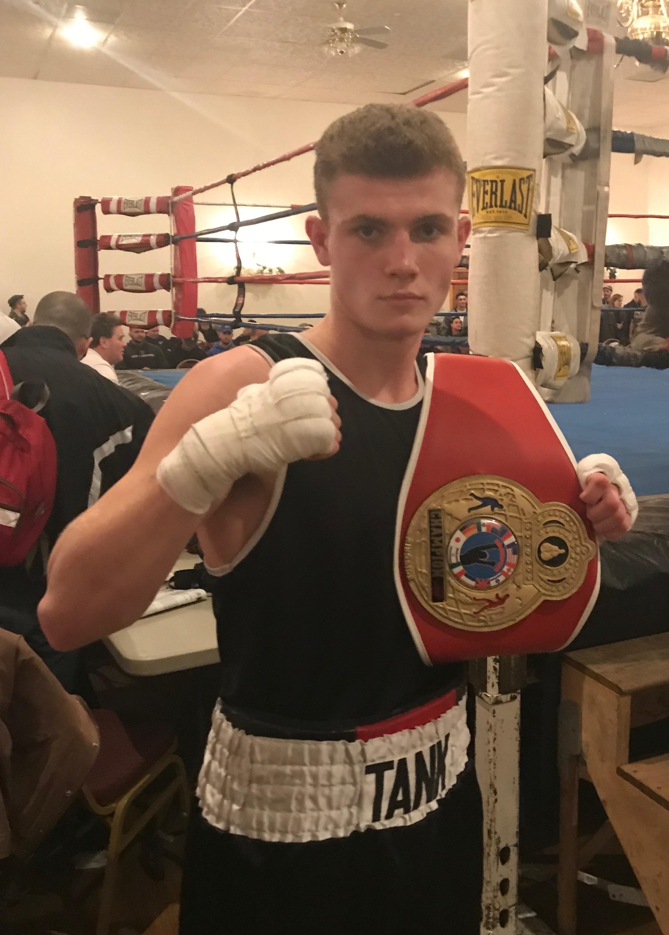 Weymouth boxer Francis Hogan has knockout goals