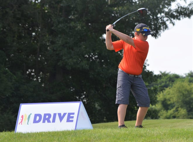 Colton Beard, who attends Harper Creek schools, was looking to be one of the qualifiers at a local Drive, Chip & Putt event at Binder Park Golf Course on Thursday.