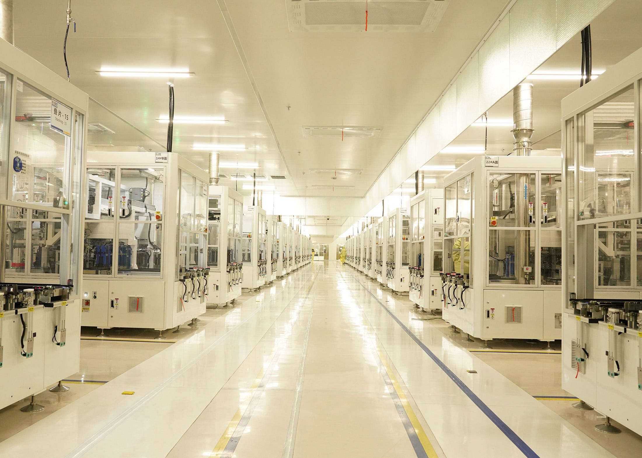Chinais home to more than 75% of all battery production capacity andaround 80% of global refining capacity for EV minerals. Seen here is SVolt's battery factory in Changzhou.