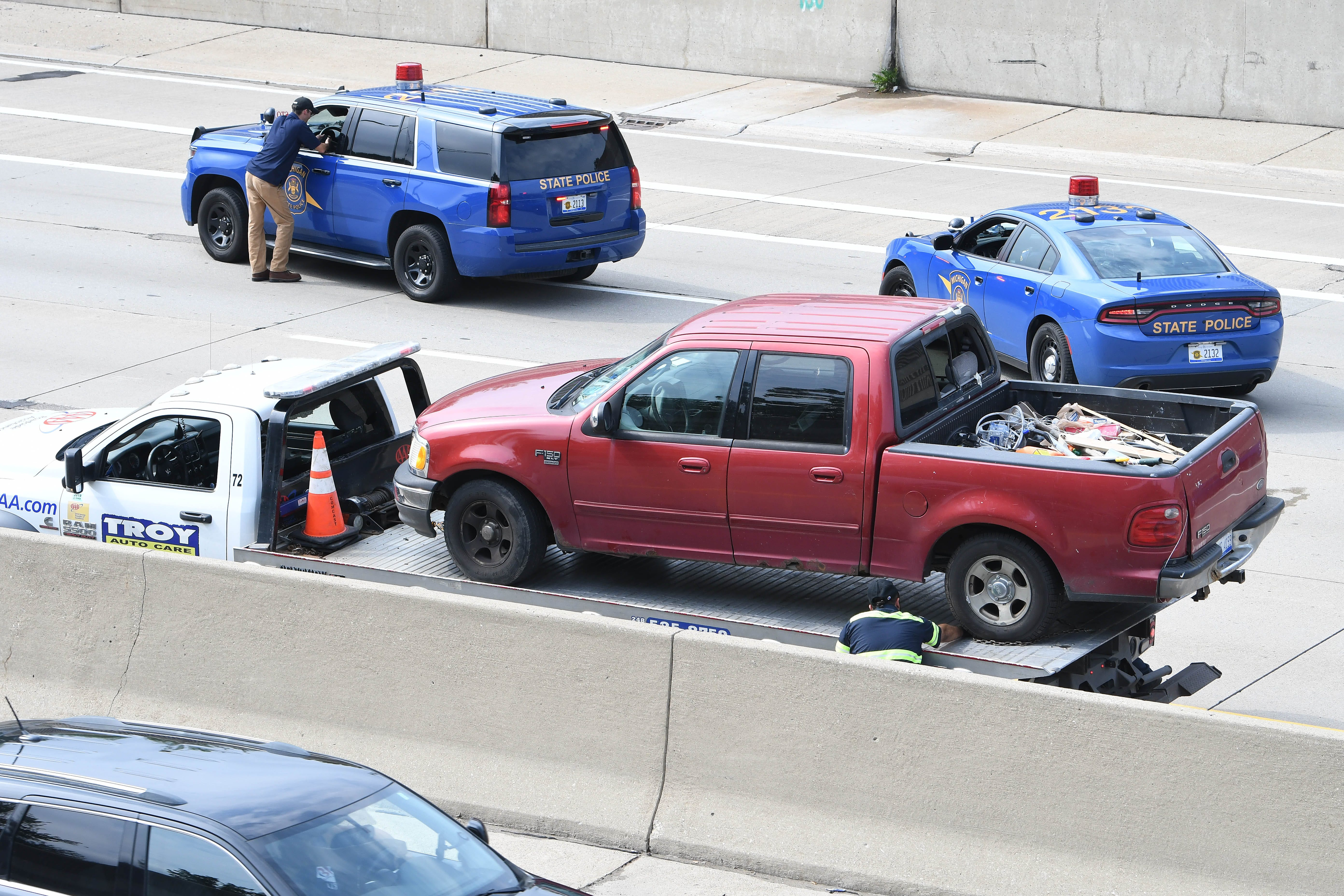 WB I-696 reopens after state police 'road rage' investigation