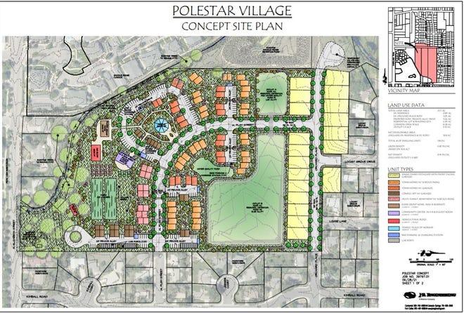 A possible site plan for Polestar Village