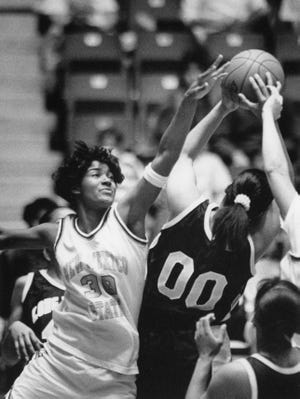 Paulina Blunt was a star athlete and student inOñate's first graduating class and one of the first local women's basketball scholarship athletes at New Mexico State.