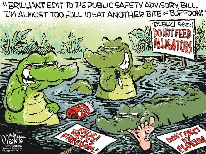 Marlette cartoon: Fauci and Florida