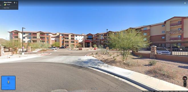 Canyon Winds Retirement Community screenshot on July 22, 2021.