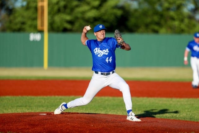Jeremiah Mauch threw a no-hitter Thursday night in Renner