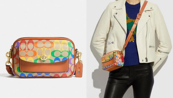 Show your pride in style with this crossbody Coach bag.