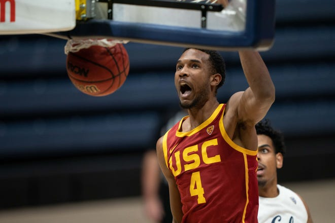 Evan Mobley, a one-and-done center at Southern California, is considered perfectly suited for the modern NBA.