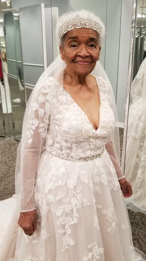 Martha Tucker, 94, fulfills her dream of trying on a wedding dress 70 years after Jim Crow laws forbid her from entering a bridal store.
