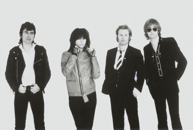 The Pretenders: Pete Farndon, Chrissie Hynde, Martin Chambers and James Honeyman-Scott.