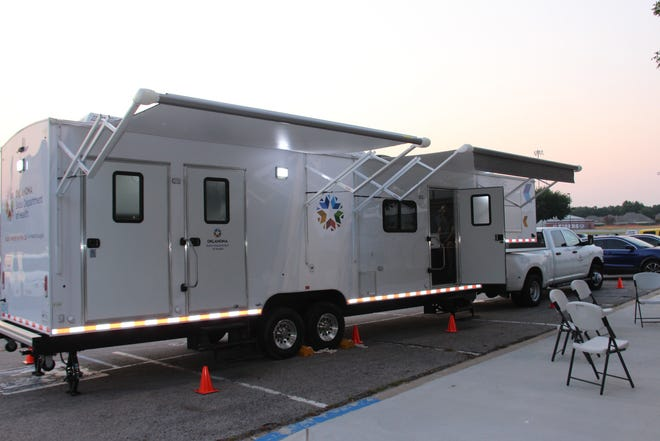 The Carter County Health Department was on site to administer COVID-19 vaccines.