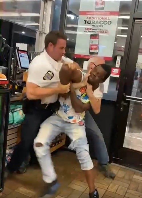 Tussle involving Columbus police officer goes viral