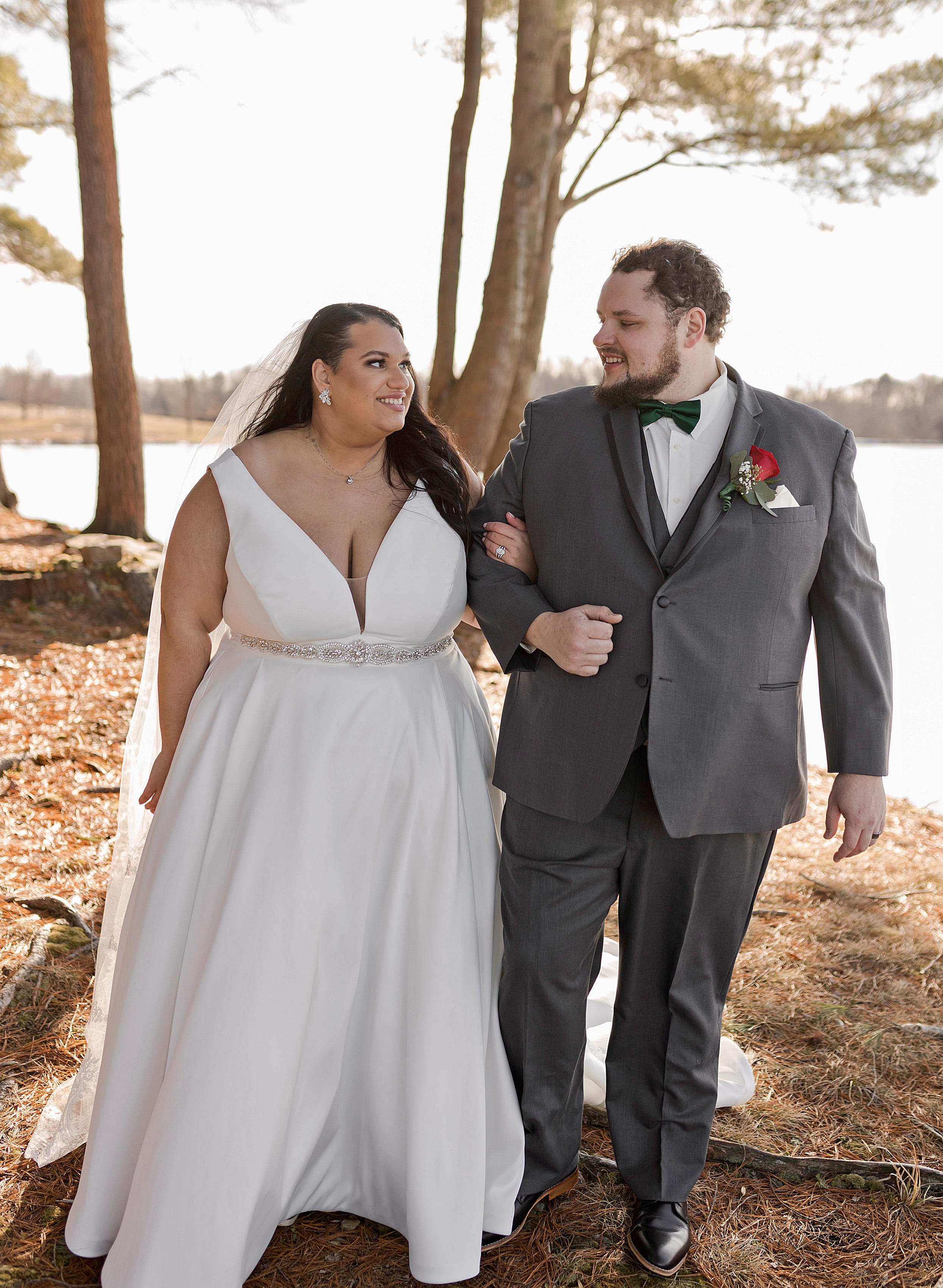 Theresa Raydo, at left, and Ethan Walker, at right, got married, Jan. 9, 2021, at Mitchell Lake near Cambridge Springs, Crawford County. Walker, 28, of Hookstown, Beaver County, and Raydo, 27, of Millcreek Township, Erie County, were both adopted by different western Pennsylvania families from Russia.