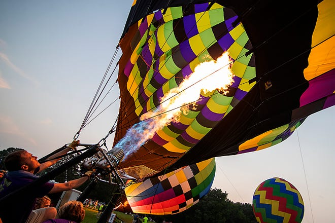 The Galesburg Great Balloon Race returned to the skies after a one-year absence with an evening launch and night glow on July 23.