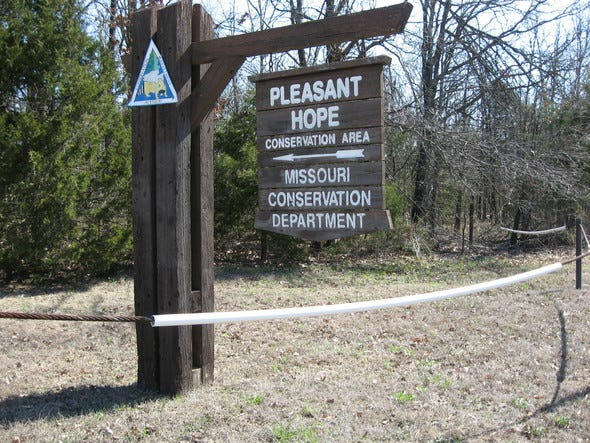 The Missouri Department of Conservation's unstaffed shooting range at the Pleasant Hope Conservation Area in Polk County has been closed until further notice.