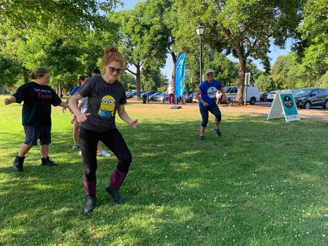 Walk it Off with the Y! offers free and engaging ways to exercise with children, including standing yoga and low-impact aerobics.