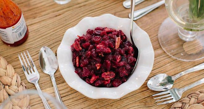 Bourbon Pecan Cranberry Sauce