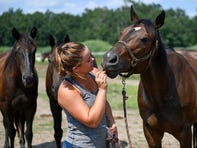 Turning for Home program administer Danielle Montgomery speaks about Chica's Ranch in Buena, N.J., and their efforts to help retired racehorses.