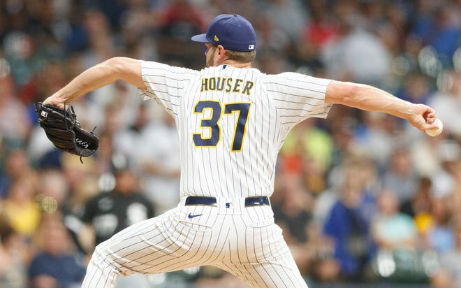 Adrian Houser followed starter Freddy Peralta and pitched two innings Friday night before the Brewers went to traditional relievers.