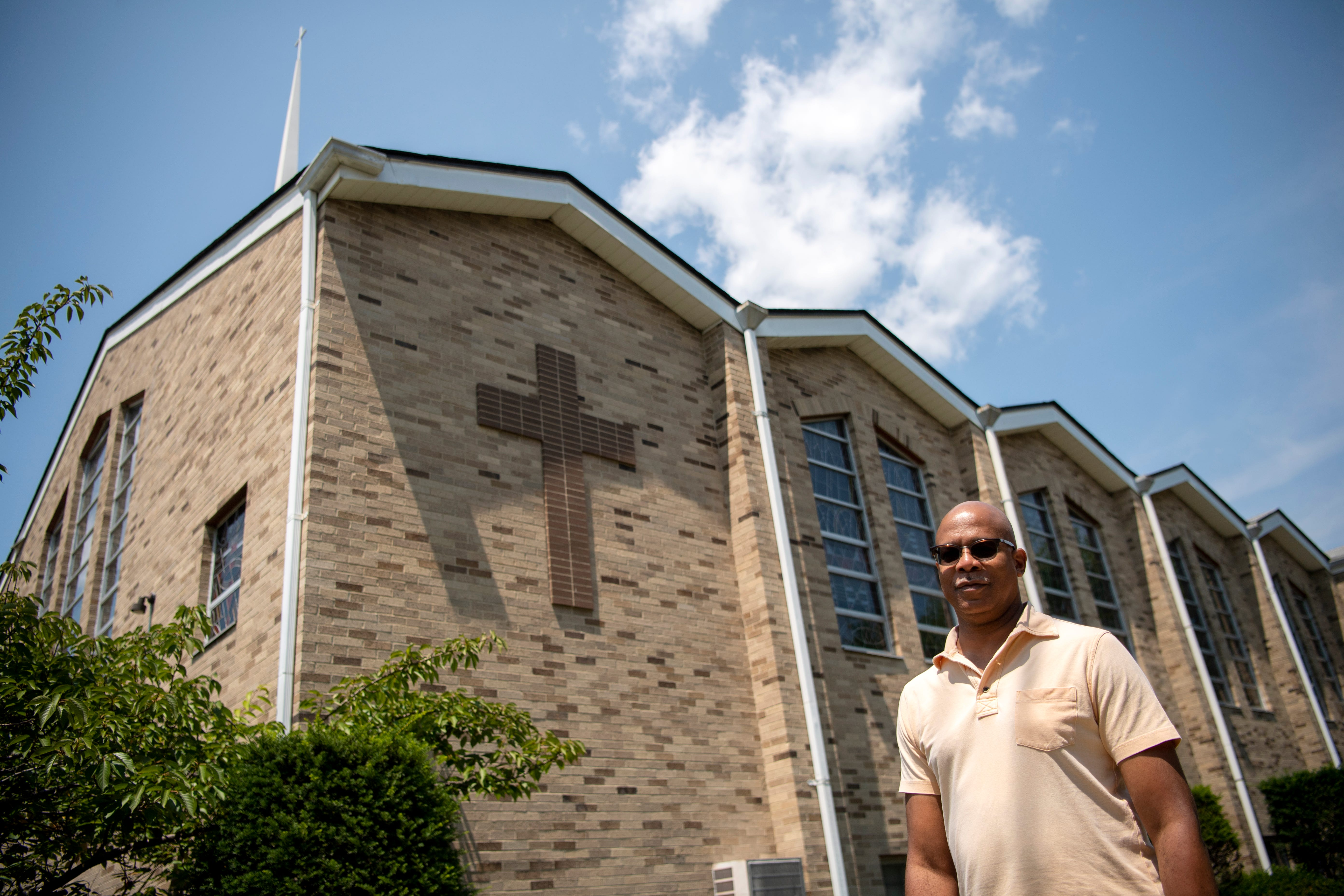 The Rev. Preston Thompson Jr. at Ebenezer Baptist Church on Saturday, July 24, 2021. As a growing number of people leave religion, Thompson is reaching out to young people in the community and trying to lure them back.