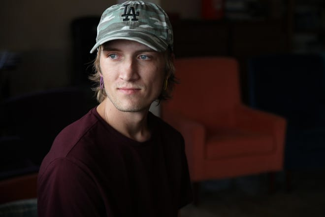 Jon Foreman, 26, is among many individuals who have taken fentanyl unknowingly due to an increase in illegal drugs being laced with fentanyl. Foreman resides at Bella Monte Recovery Center in Desert Hot Springs, Calif., on July 22, 2021.